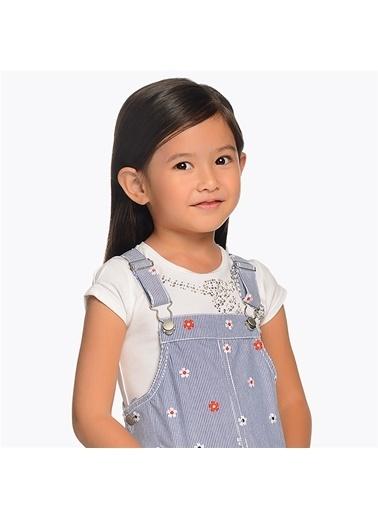 Mayoral Mayoral Kız Çocuk Pullu T-shirt Beyaz